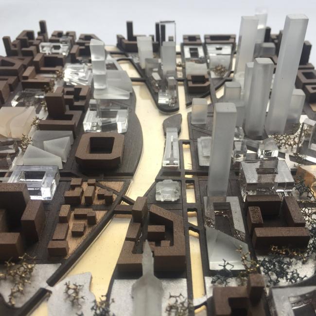 Макет застройки. Прототип «Идеального города».  2017 г. Предоставлено Kleinewelt Architekten