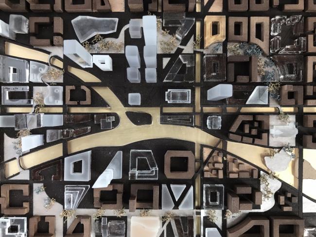 Модель «Идеального города», представленная на одноименной экспозиции на фестивале «Арх Москва 2017. Next!». Фотография Kleinewelt Architekten