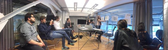 На встрече с участниками проекта «Идеальный город» в бюро Kleinewelt Architekten. Предоставлено Kleinewelt Architekten