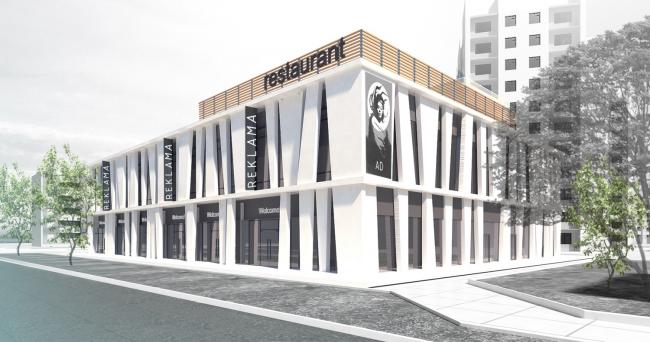 Магазин с кафе на ул. 40 лет Октября © ROCK architecture studio