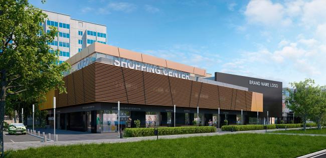 Административно-торговое здание на ул. Космонавтов © ROCK architecture studio