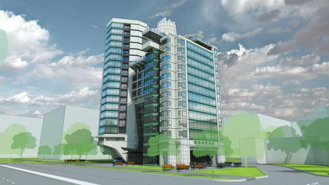 Апарт-Отель на улице Шейнкмана © Архитектурная мастерская Анатолия Романова