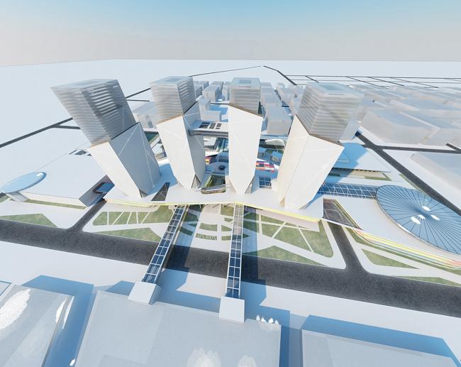 Проект застройки района «Академический» © Архитектурная мастерская Анатолия Романова
