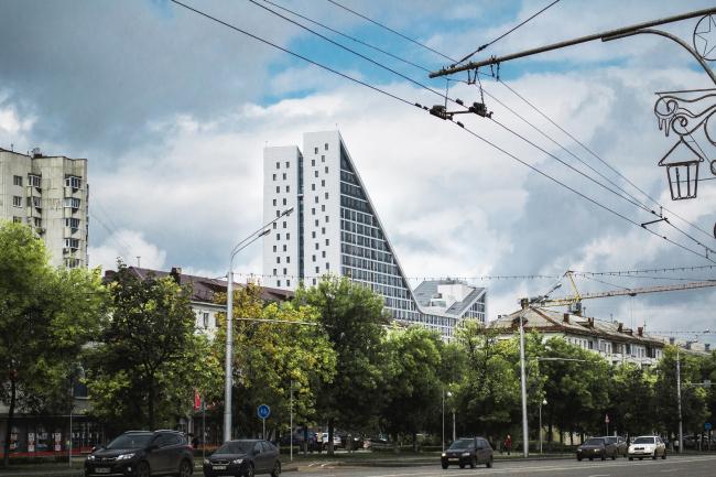 ЖК «4 сезона», вид с проспекта Октября. Постройка © АБ «Проспект»