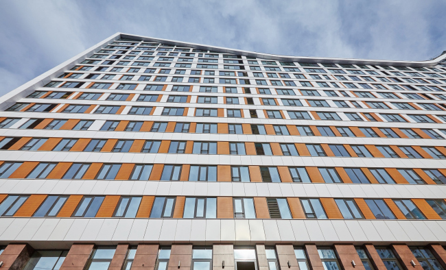 ЖК «4 сезона», Эффект градиента на фасаде © АБ «Проспект»