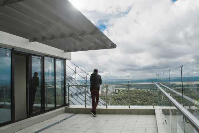 ЖК «4 сезона», терраса. Постройка © АБ «Проспект»