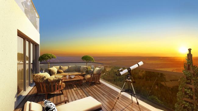 ЖК «4 сезона», вид с проспекта Октября. Визуализация, проект © АБ «Проспект»
