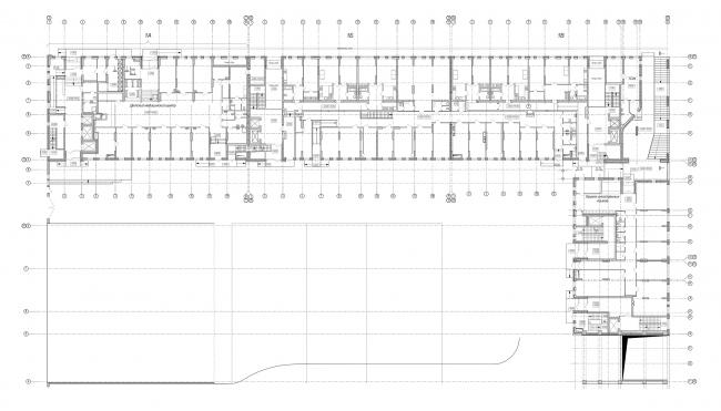 ЖК «4 сезона», план 1 этажа © АБ «Проспект»