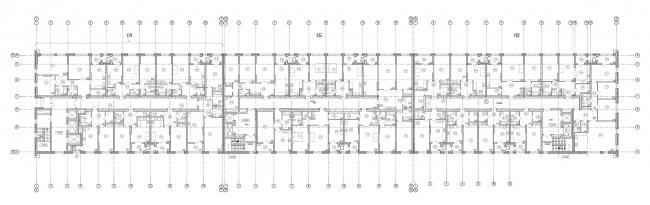 ЖК «4 сезона», план типового этажа © АБ «Проспект»