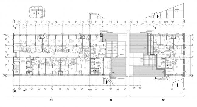 ЖК «4 сезона», план 15 этажа. Начиная с 14 этажа в секциях А и В появляются квартиры с террасами © АБ «Проспект»