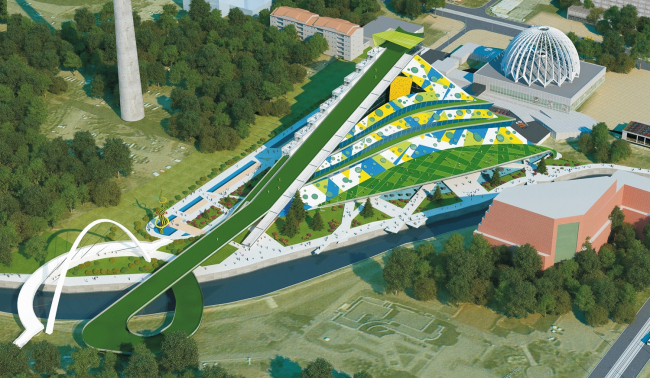 Развлекательный центр в пойме реки Исеть © ООО «Аграф»