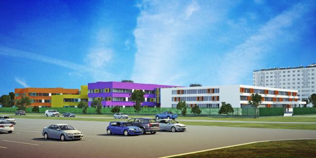 Реконструкция общеобразовательной школы №3 в Верхней Пышме © АМ «Проект-ДОТ»