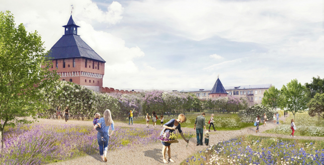 The project of renovating the Tula embankment. The lilac garden © WOWHAUS