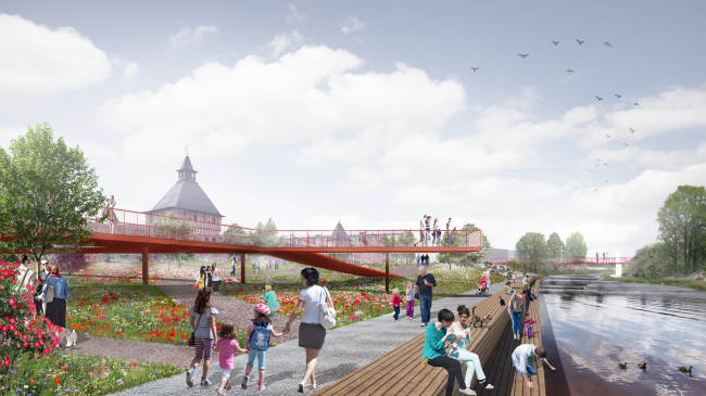 The project of renovating the Tula embankment © WOWHAUS