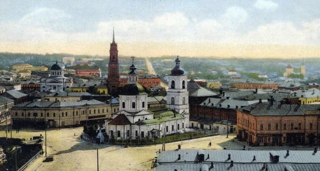Krestovozdvizhenskaya Square. Archive materials / provided by WOWHAUS