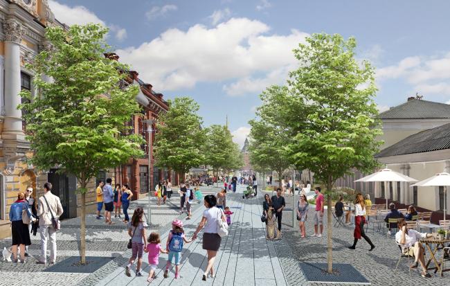 Проект реконструкции Тульской набережной. Улица Металлистов © WOWHAUS