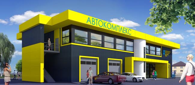 Автокомплекс в с. Горный щит © Архитектурная студия 20/10