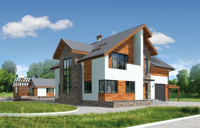 Индивидуальный жилой дом в пос. Алые паруса © Архитектурная студия 20/10