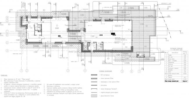 Дом на Волге. План 1 этажа © Бородавченко и партнеры