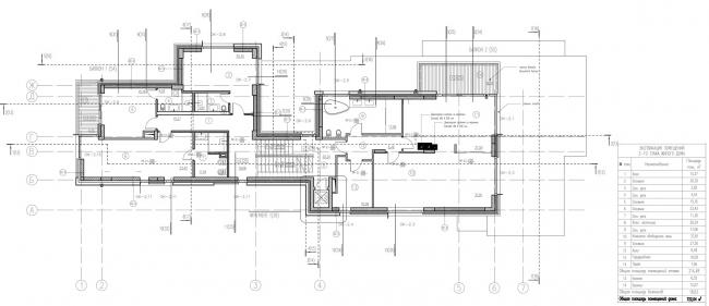 Дом на Волге. План 2 этажа © Бородавченко и партнеры