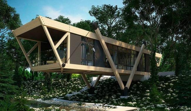 Дом у ручья © Архитектор Максим Любецкий
