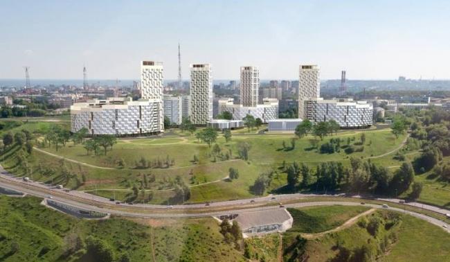Проект застройки жилого квартала в Советском районе © Творческая мастерская архитектора Валерия Никишина