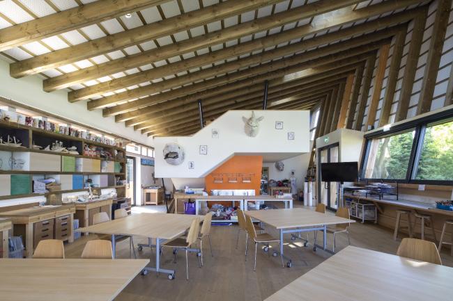 Факультет визуальных искусств Школы Эймсбери, Великобритания.  Webb Yates Engineers © Agnese Sanvito