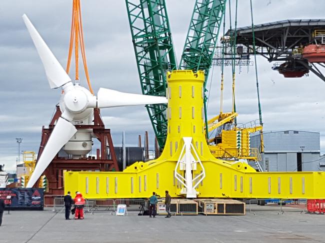Основание для турбины завода MeyGen в Шотландии © Robert Bird Group