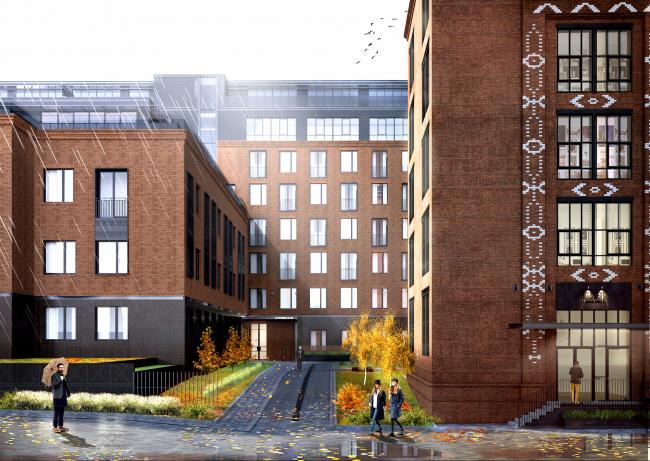 Комплекс апартаментов «Большевик», в процессе реализации