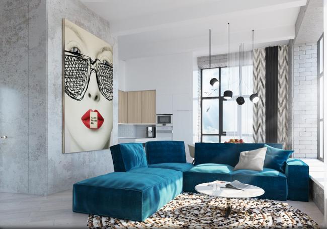 Комплекс апартаментов «Большевик», интерьер © IND Architects
