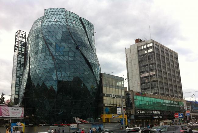 БЦ «Бутон». В процессе строительства © Архитектурно-конструкторское бюро. Кашин, Герасимов