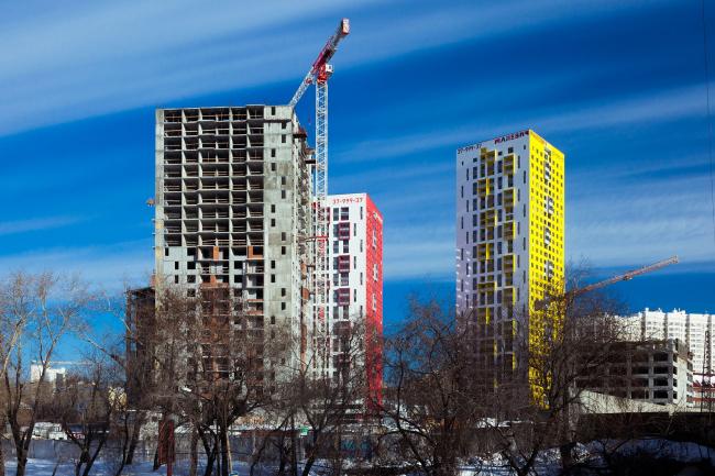 """""""Malevich"""" housing complex. OSA. Photograph © Maxim Loskutov"""