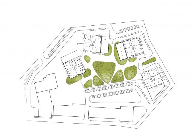 """Malevich"" housing complex © OSA architects"