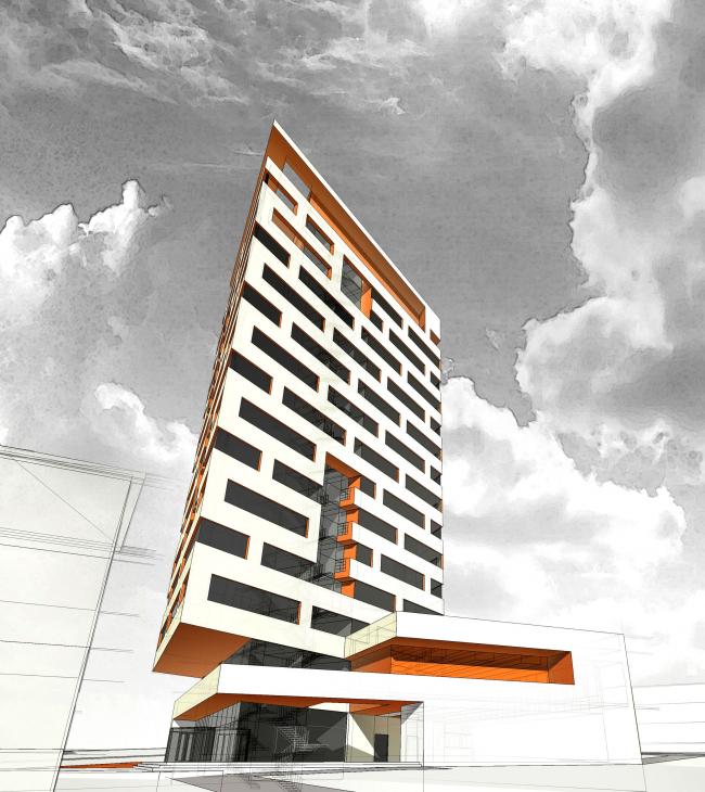 Лабораторный корпус Роспотребнадзора  © Архитектурное Бюро ОСА