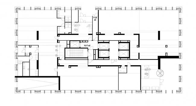 Апарт-отель бизнес класса «Эверест». План 0 этажа © Архитектурное Бюро ОСА