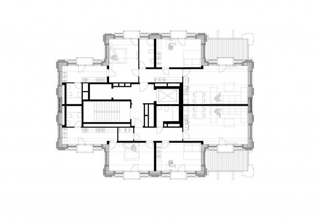 Апарт-отель бизнес класса «Эверест». План 30 этажа © Архитектурное Бюро ОСА