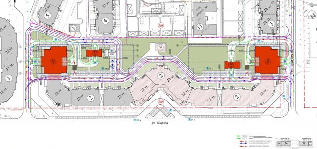 Схема генплана © Архитектурное бюро «Богачкин и Богачкин»