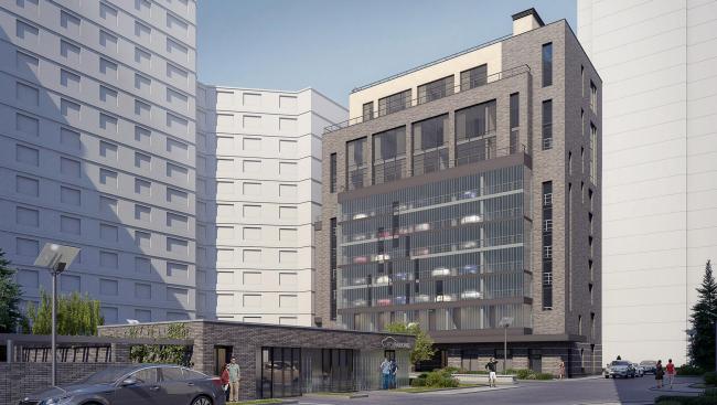 Общий вид зданий © Архитектурное бюро «Богачкин и Богачкин»