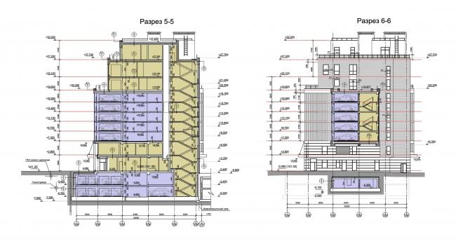 Разрезы, Блок А © Архитектурное бюро «Богачкин и Богачкин»