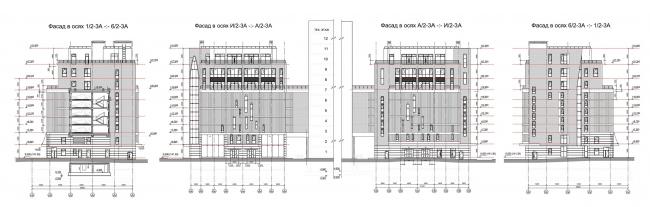 Фасады. Блок А © Архитектурное бюро «Богачкин и Богачкин»