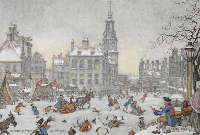 Антон Пик. «Амстердам XVIII века. Монетная башня»