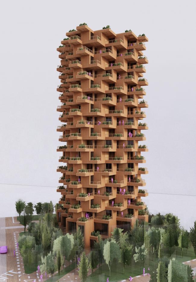 Tree Tower Toronto © Penda