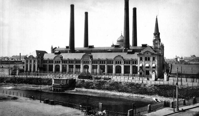 Историческая фотография городской электростанции. Начало XX века