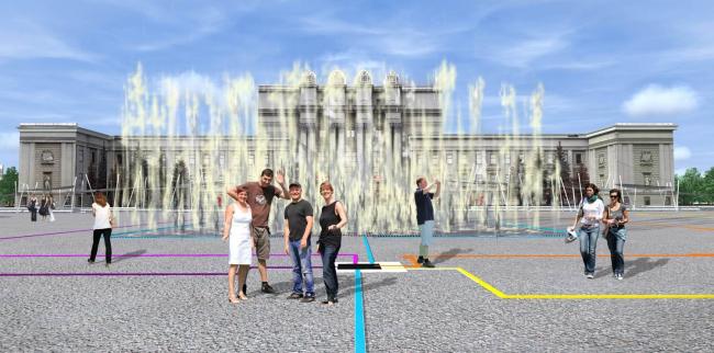 Проект реконструкции площади им. Куйбышева © Архитектурное Бюро Храмова