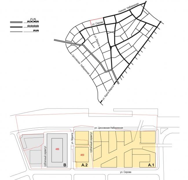Квартал на набережной Иркутска. Концепция квартала. Четкие границы © Архитектурное Бюро ОСА