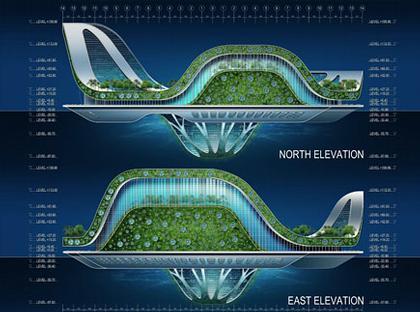 Проект LILYPAD. Северная и восточная стороны