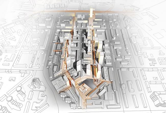 Мельковские кварталы. Бульварное кольцо © Архитектурное Бюро ОСА