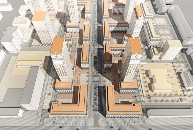 Мельковские кварталы. Вход в квартал с улицы Азина © Архитектурное Бюро ОСА