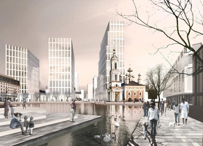 Мельковские кварталы. Мельковский пруд © Архитектурное Бюро ОСА