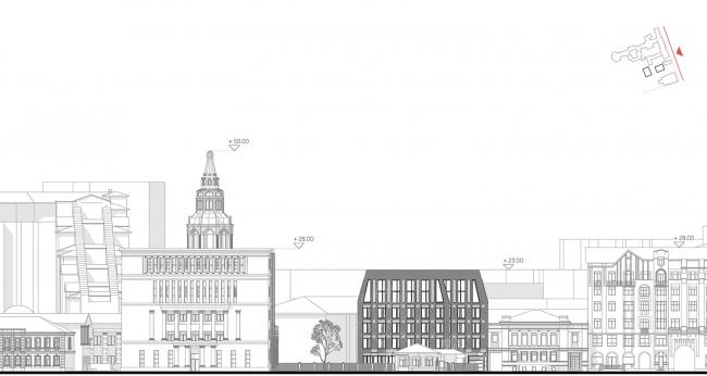 Development drawing along the Dolgorukovskaya Street © APEX project bureau